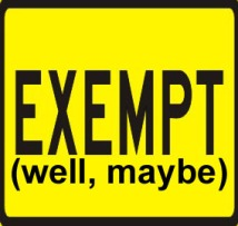 exempt-well-maybe